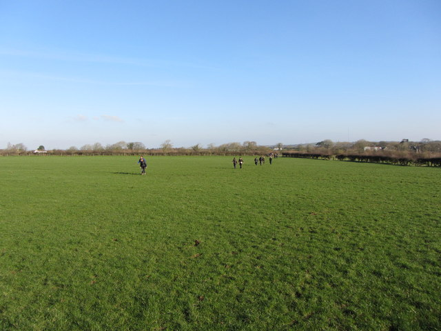 Fields and footpath at Sigingstone