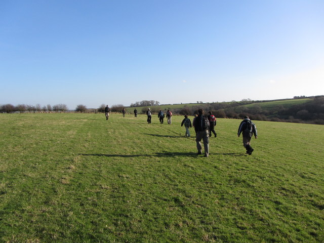 Fields and path near Llanmihangel