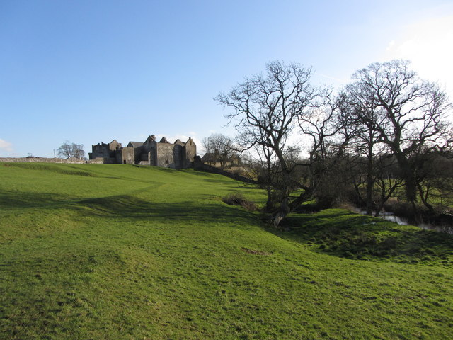Approaching Old Beaupre Castle