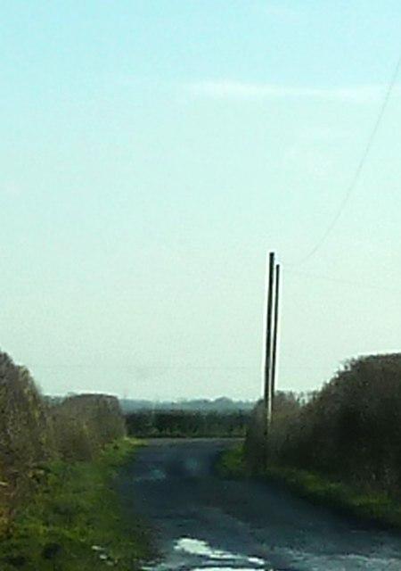 Track between Hoole lane and Shentys Farm