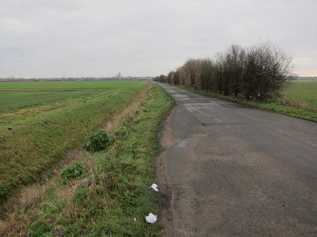 West Fen Road passing place
