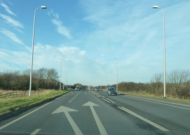 Amounderness Way by junction with Anchorsholme Lane