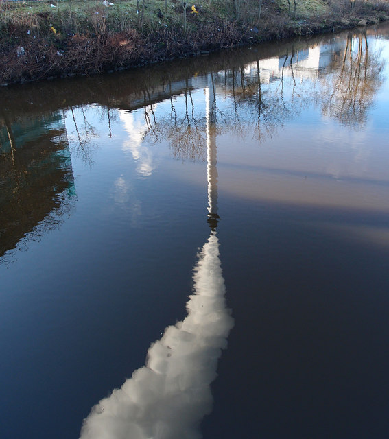 Chimney Reflection, River Clyde