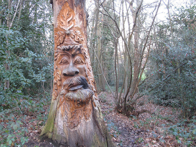 Green Man in Lesnes Abbey Woods