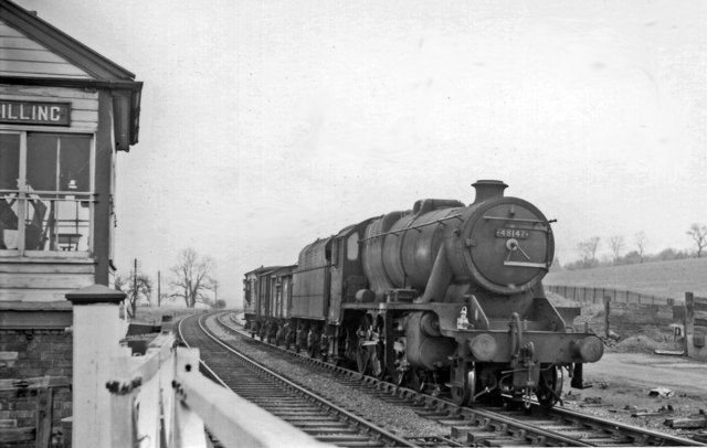Goods train bound for Northampton at Billing