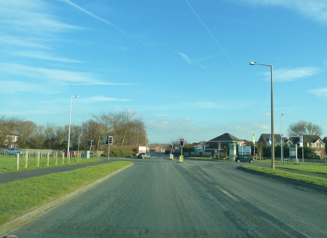 Traffic Lights at junction of Bourne Way and Fleetwood Road North