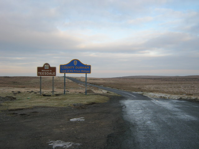 Entering County Durham at Stang Top