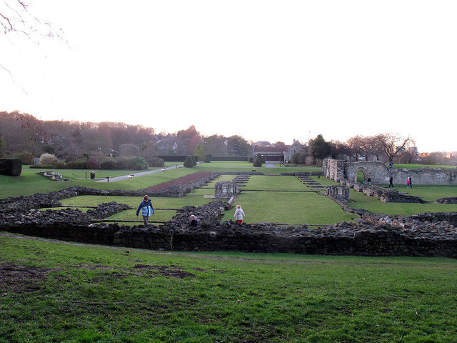 Lesnes Abbey: site of the church