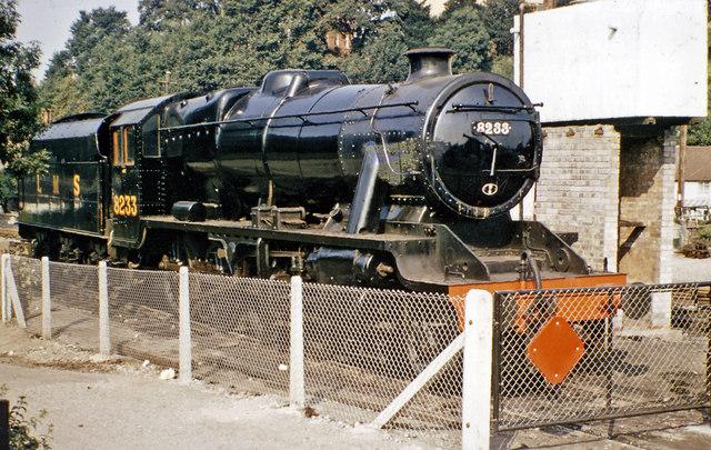 Preserved 8F 2-8-0 at Bridgnorth, Severn Valley Railway