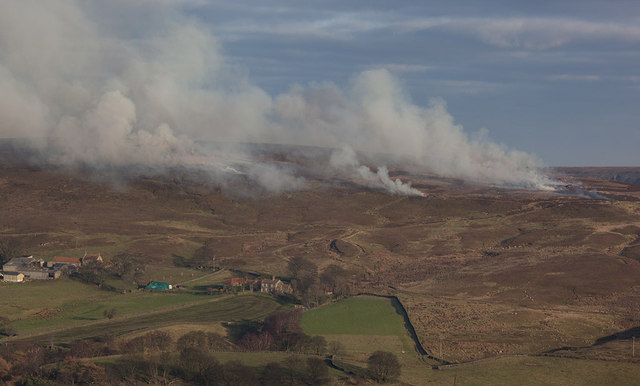 Controlled burning on Castleton Rigg