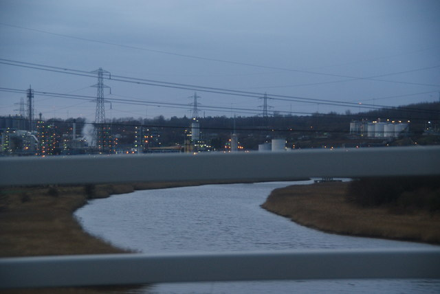 The River Weaver from the M56