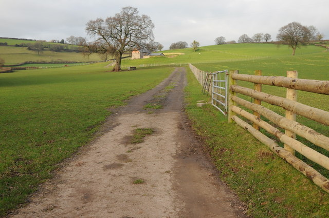 Road to a converted barn