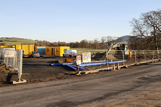 Construction work at Easter Langlee, Galashiels
