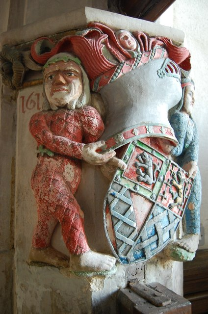17th Century carving, Brede church