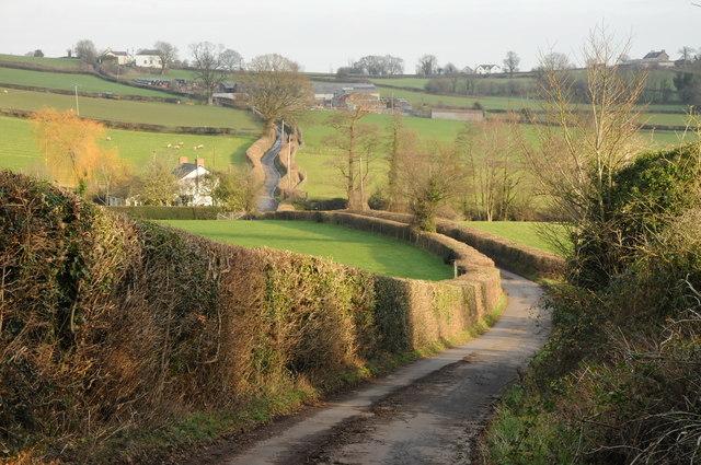 Road to Llanddewi Rhydderch