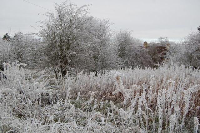 Winter scene Cleveley