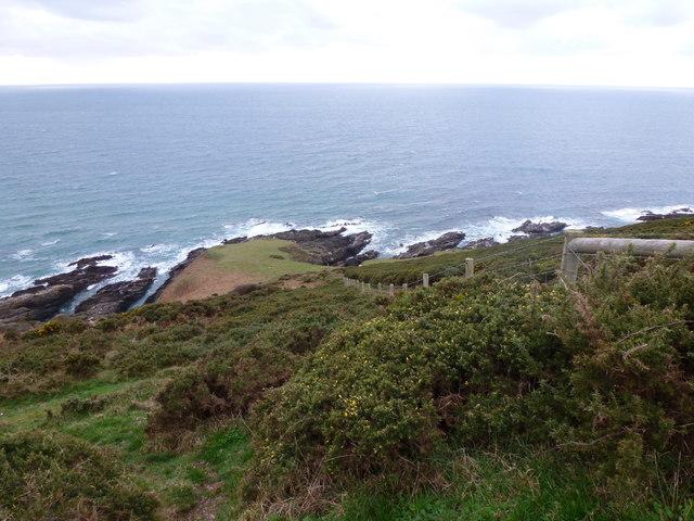Coastline at gate to The Warren, near Noss Mayo