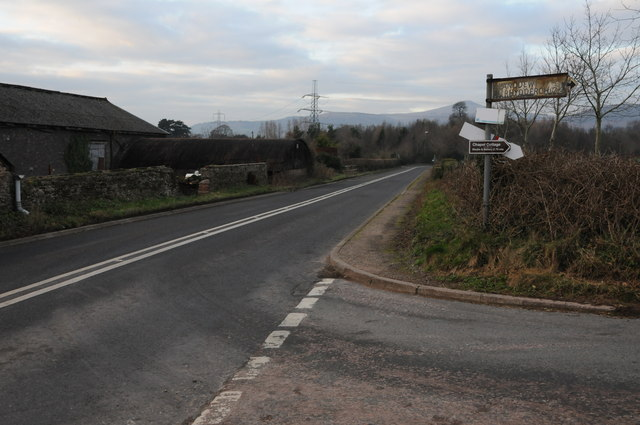 The A4598 approaching Abergavenny