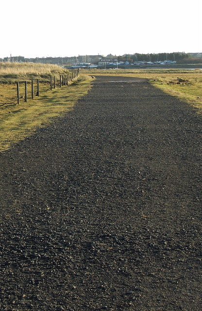 Footpath south towards Amble