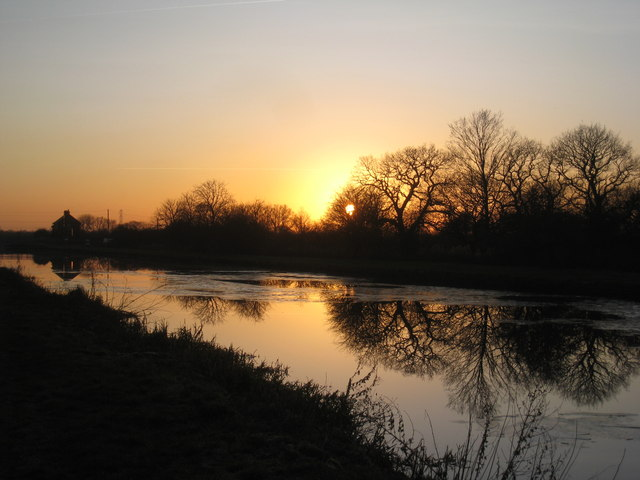 Sunset over the New Junction Canal