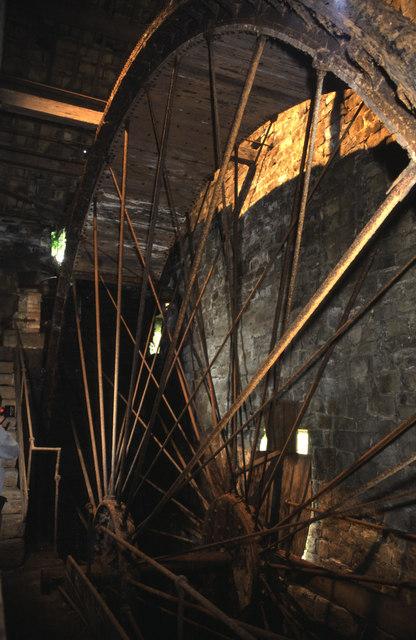 Lumb Mill, Wainstalls - waterwheel