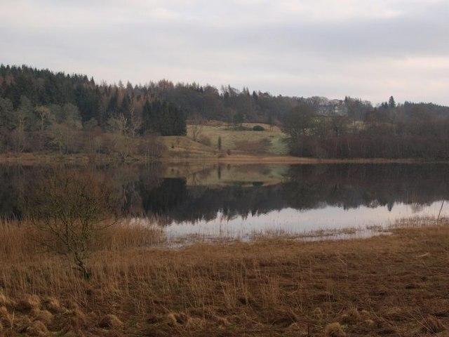 Looking across Craigallian Loch