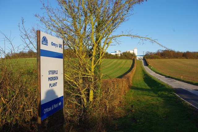 Road to Omya plant, Steeple Morden