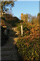 TQ1343 : Leith Hill Tower from the steps down to Windy Gap car park by Christopher Hilton
