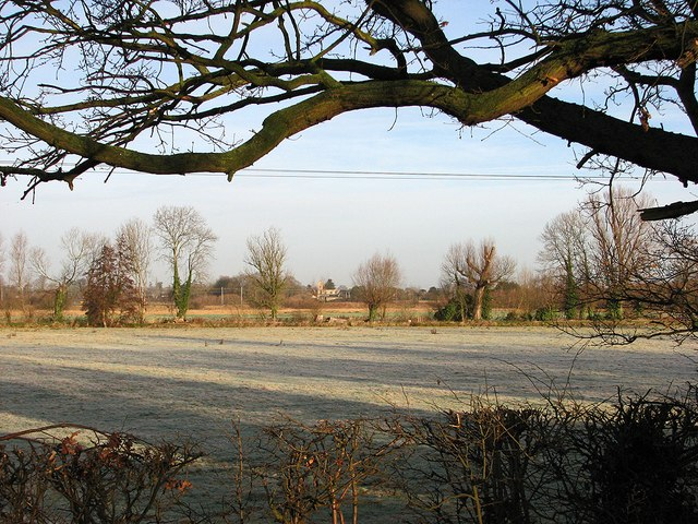 Frosty fields on a January morning