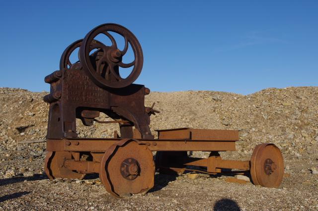 Abandoned stone breaker