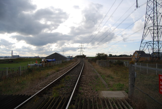 The Hundred of Hoo Line near Stoke Airfield