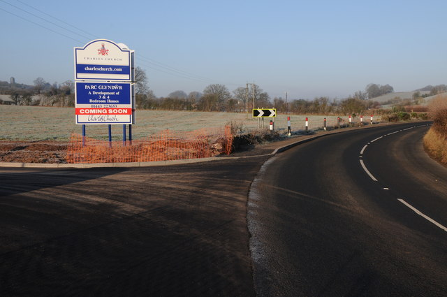 Entrance to forthcoming housing development