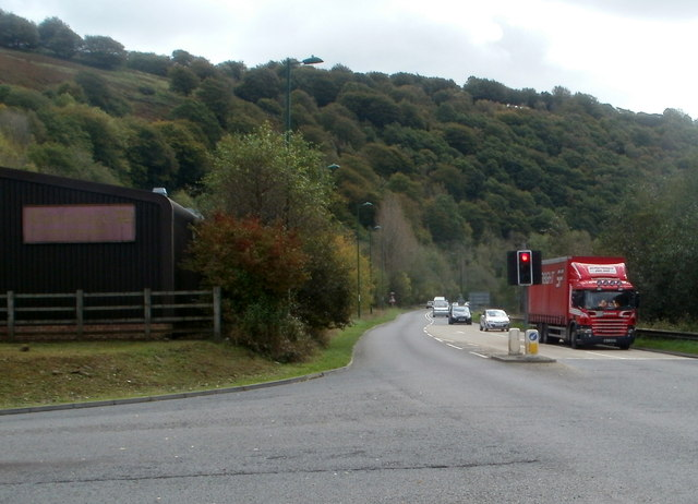A467 passes edge of Llanhilleth Industrial Estate