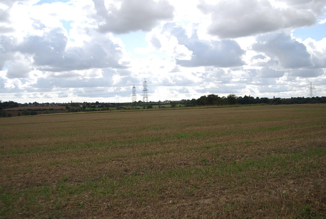 Pylons in the distance