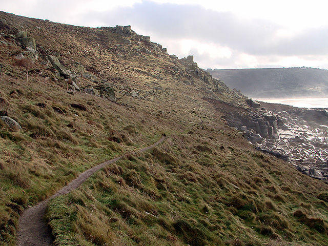 The South West Coastal Path looking towards Sennen Cove