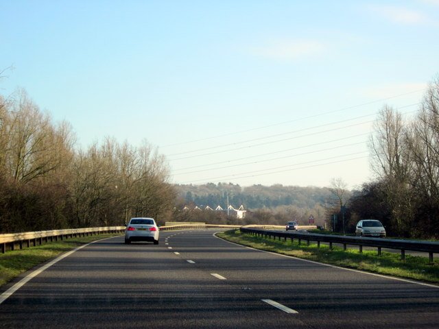 A449 Approaching M5 Motorway Junction 6