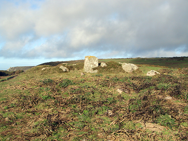 Ancient cairn at Boscregan