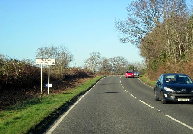 Martin Hussingtree Village Sign A4538