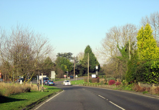 Martin Hussingtree. A4538 Junction With A38