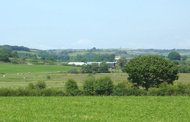 Farmland south-west of Tregaron, Ceredigion