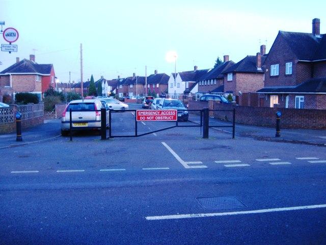 Blocked off road, Feltham