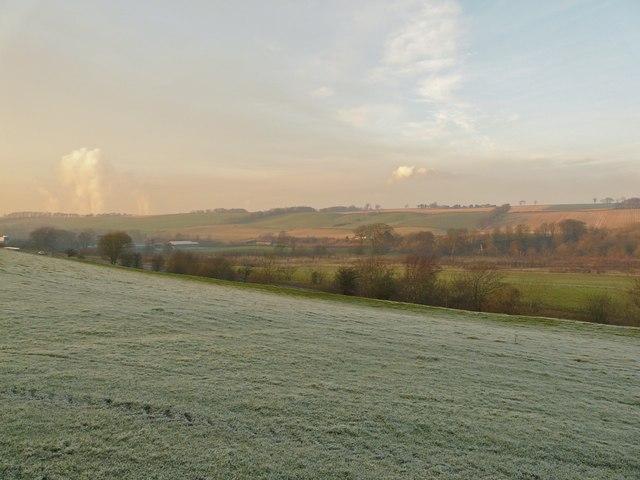 Frosty field, Linlithgow Bridge