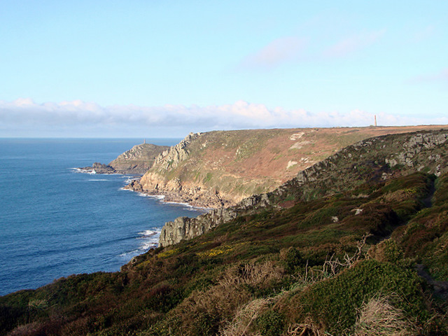 Looking towards Carn Gloose and Cape Cornwall
