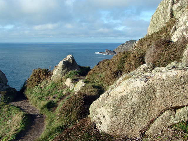 Negotiating the rocks on the South Western Coastal Path