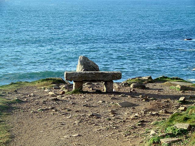 Stone seat at Porth Nanven