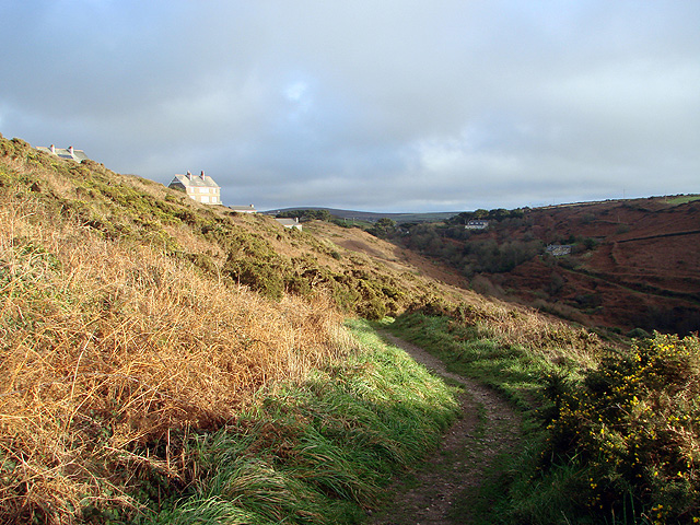 The south West Coastal Path above Porth Nanven
