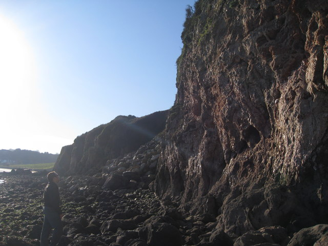 Crystal Cove  ....  Cliffs north of Broadsands