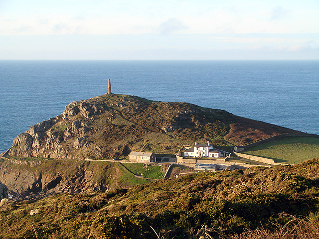Cape Cornwall viewed from Carn Gloose