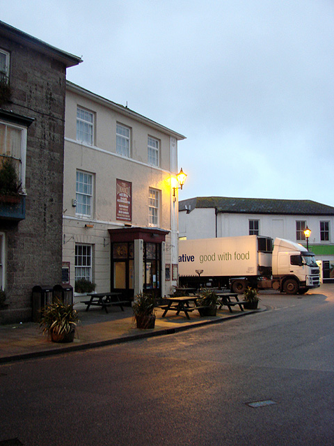 The Commercial Hotel in the centre of St. Just