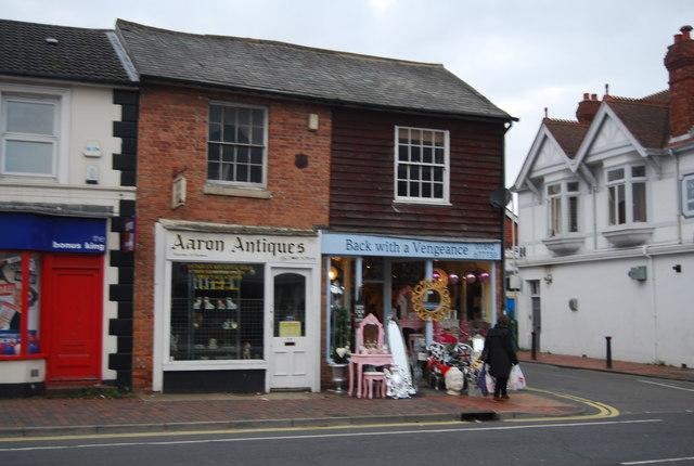 Two antiques shops, St John's Rd